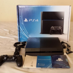 PlayStation 4 Sony 500Gb Black, PS4 Consola, 1 Controller, 2 Jocuri