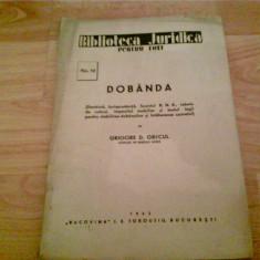 DOBINDA -GRIGORE D. GRECUL - Carte Jurisprudenta