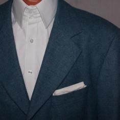 Sacou barbati HUGO BOSS albastru - material LORO PIANA marimea 54 lana si casmir, 3 nasturi, Marime sacou: 48, Normal