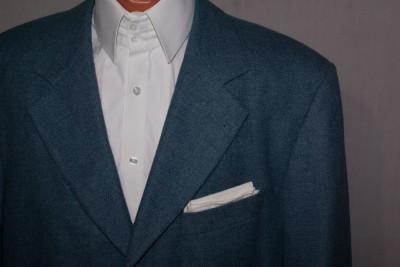 Sacou barbati HUGO BOSS albastru - material LORO PIANA marimea 54 lana si casmir foto