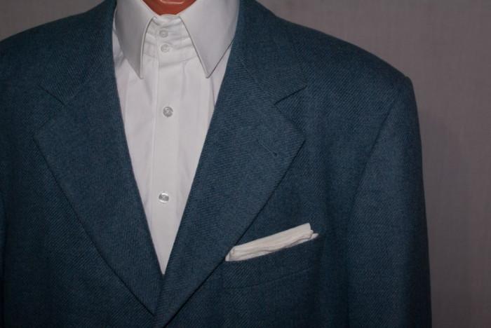 Sacou barbati HUGO BOSS albastru - material LORO PIANA marimea 54 lana si casmir foto mare