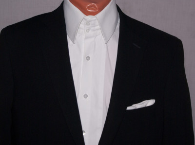 Sacou barbati MORRIS negru marimea 48 cu nasturi metalici foto