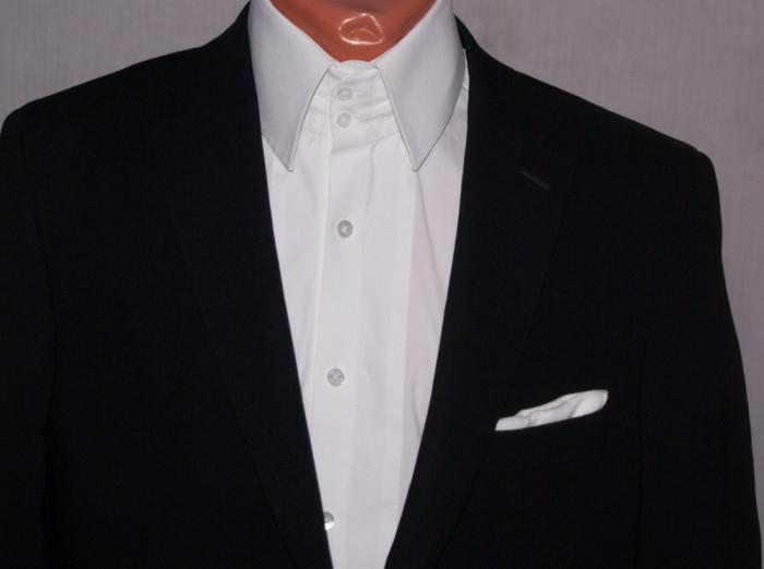 Sacou barbati MORRIS negru marimea 48 cu nasturi metalici foto mare