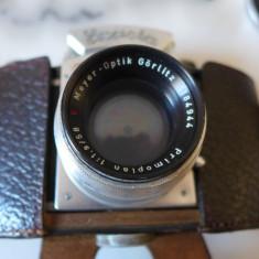 Exacta ihagee Kine 1.2.3 + Obiectiv Meyer Optik 58mm f1.9 Primoplan Gorlitz FOTO - Aparat Foto cu Film Exakta