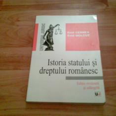 ISTORIA STATULUI SI DREPTULUI ROMANESC -EMIL MOLCUT - Carte Istoria dreptului