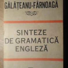Sinteze De Gramatica Engleza - Georgiana Galateanu-firnoaga, 388179 - Carte in engleza