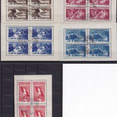 ROMANIA 1947, LP 224, APARAREA PATRIOTICA BLOC DE 4 STAMPILA PRIMA ZI - Timbre Romania, Stampilat