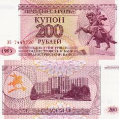 TRANSNISTRIA 200 ruble 1993 UNC!!! - bancnota europa
