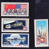 """Timbre RUSIA 1975 = ZBOR SPATIAL CU """"SOYUZ-19"""" SI """"APOLLO"""", MNH - Timbre straine, Nestampilat"""