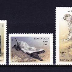 Timbre RUSIA 1987 = MAMIFERE LISTATE IN CARTEA ROSIE A URSS, MNH - Timbre straine, Nestampilat