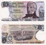 ARGENTINA 5 pesos ND (1983-84) P-312 UNC!!!