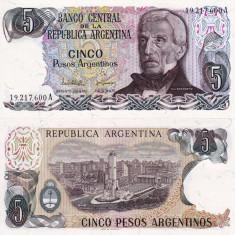 ARGENTINA 5 pesos ND (1983-84) P-312 UNC!!! - bancnota america
