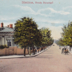SLATINA STRADA BUCURESTI SCRISA 1916 NECIRCULATA - Carte Postala Oltenia dupa 1918, Printata