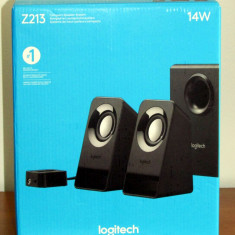 Sistem Boxe Logitech 2.1 Multimedia Z213 - NOI - SIGILATE ! - Boxe PC Logitech, 0-40W, Activa