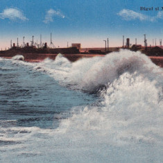 CONSTANTA DIGUL SI MAREA AGITATA - Carte Postala Dobrogea dupa 1918, Necirculata, Printata