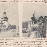 SOUVENIR DE SINAIA , CASTELUL  PELES  FATADA EST SI SUD-EST CLASICA , CIRC. 1899