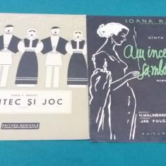 2 PARTITURI MUZICALE: IOANA RADU / SABIN DRĂGOI/1958 - Partitura
