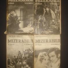 VICTOR HUGO - MIZERABILII 4 volume {1935, prima editie} - Carte veche