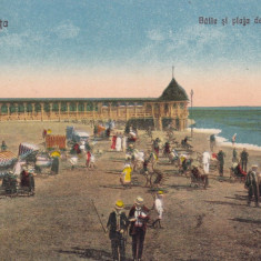 CONSTANTA BAILE SI PLAJA DE LA MAMAIA EDITURA G. T. CONSTANTA - Carte Postala Dobrogea dupa 1918, Necirculata, Printata