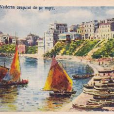 CONSTANTA VEDEREA ORASULUI DE PE MARE CIRC. 1930 ED. GRIGORE TRANDAFIRESCU - Carte Postala Dobrogea dupa 1918, Circulata, Printata