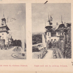 SOUVENIR DE SINAIA, CASTELUL PELES FATADA EST SI SUD-EST CLASICA, CIRC. 1900 - Carte Postala Muntenia pana la 1904, Circulata, Printata