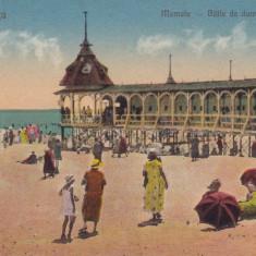CONSTANTA MAMAIA - BAILE DE DAME SI PLAJA EDITURA G. T. CONSTANTA - Carte Postala Dobrogea dupa 1918, Necirculata, Printata