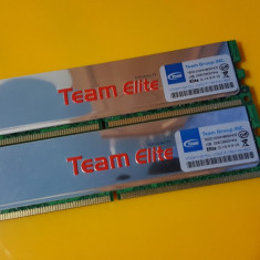 Kit 2GB DDR2 Desktop, 1GBx2, Brand Team Elite, 800Mhz, PC2-6400, CL5, Radiator - Memorie RAM Team Group, Dual channel