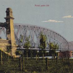 SLATINA PODUL PESTE OLT SCRISA NECIRCULATA - Carte Postala Oltenia dupa 1918, Printata
