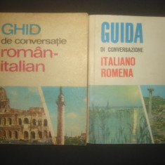 GHID DE CONVERSATIE ROMAN - ITALIAN * ITALIAN - ROMAN 2 volume - Curs Limba Italiana