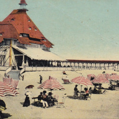 CONSTANTA - MAMAIA BAILE CIRCULATA 1912 - Carte Postala Dobrogea 1904-1918, Printata
