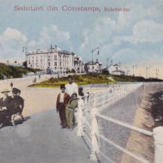 CONSTANTA SALUTARI DIN CONSTANTA BULEVARDUL - Carte Postala Dobrogea dupa 1918, Necirculata, Printata