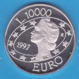 (1) MONEDA DIN ARGINT SAN MARINO- 10.000 LIRE 1997, STARE UNC, SE VINDE IN CAPSULA, Europa