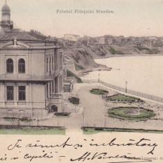 CONSTANTA PALATUL PRINTULUI STURZA CLASICA CIRC. 1906 ED. LIB GR.M.GRIGORIU - Carte Postala Dobrogea pana la 1904, Circulata, Printata
