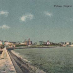 CONSTANTA VEDEREA ORASULUI DE PE DIG CIRCULATA - Carte Postala Dobrogea dupa 1918, Printata