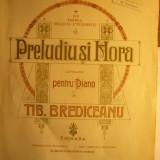 Tiberiu Brediceanu - Preludiu si Hora pt. pian -partituri, interbelica - Carte Arta muzicala