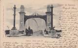 OLTENIA  SALUTARI  DIN  ROMANIA  SLATINA . PODUL  PESTE OLT  CLASICA CIRC.  1901, Circulata, Printata