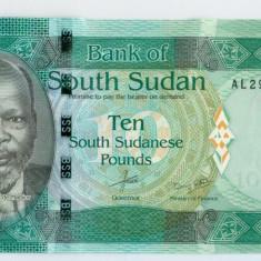 SUDANUL DE SUD - 10 Pounds 2015 - UNC - bancnota africa