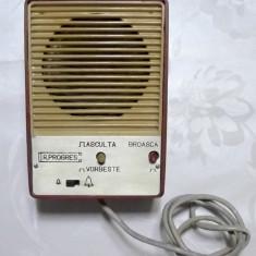 Un difuzor interfon vechi si rara de coletie anii 90 de colectie radioprogres, 81-120 W