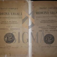 MINA MINOVICI - TRATAT COMPLECT DE MEDICINA LEGALA, 2 VOL, 1928 - Carte Drept comercial
