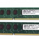 Kit Memorie RAM DDR3 4GB 2x2 GB 1333MHz, Dual channel