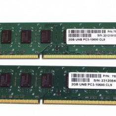 Memorie RAM DDR3 4GB 2x2 GB 1333MHz Garantie 12 Luni, Dual channel