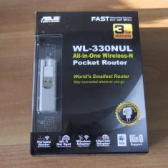 Router,Stick,Adaptor retea wireless mobil ASUS WL-330NUL 4-in-1.