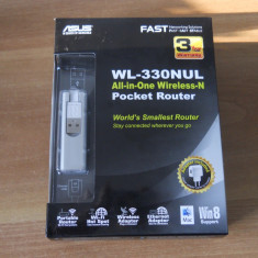Router, Stick, Adaptor retea wireless mobil ASUS WL-330NUL 4-in-1., Port USB, Porturi LAN: 1