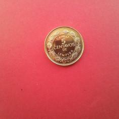 5 centavos 2005-HONDURAS-UNC-luciu de batere, America Centrala si de Sud