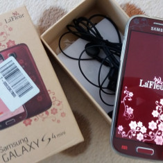 Samsung Galaxy S4 mini LaFleur - Telefon mobil Samsung Galaxy S4 Mini, Negru, Neblocat, Single SIM