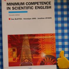 Minimum Competence in Scientific English Sue Blattes