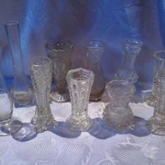 COLECTIE DE 10 VAZE VECHI DIN STICLA. - Vaza sticla