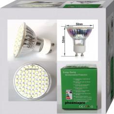 BEC SPOT LED GU10 60 leduri 220 V, Becuri LED