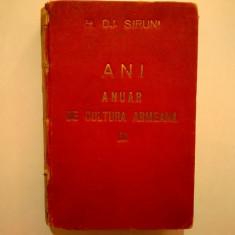 H. Dj. Siruni - ANI Anuar de cultura armeana {1941}
