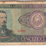 Romania 50 lei 1966 - Bancnota romaneasca
